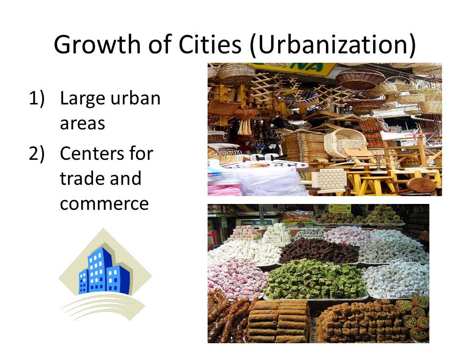 Growth of Cities (Urbanization)