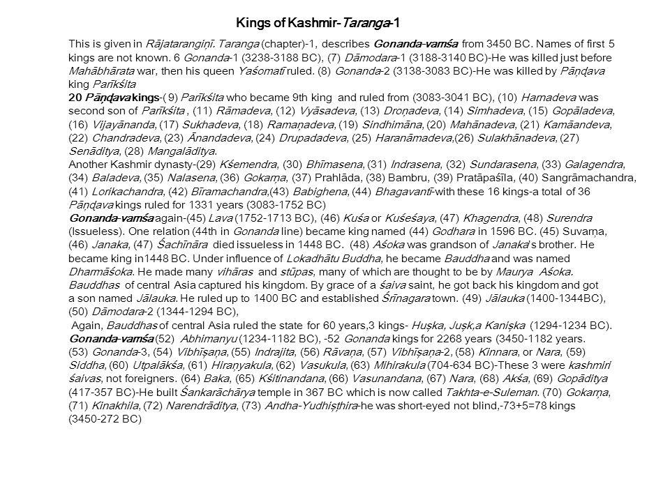 Kings of Kashmir-Taranga-1