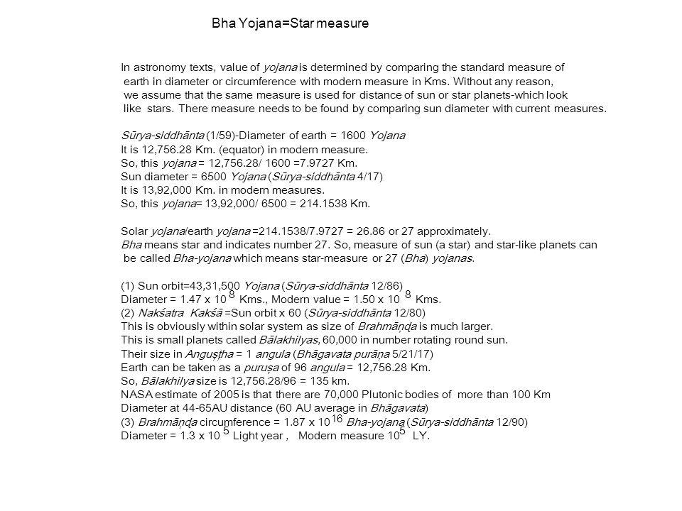 Bha Yojana=Star measure