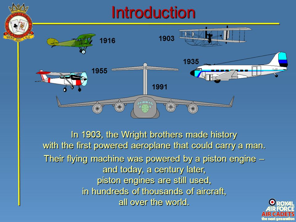 Introduction In 1903, the Wright brothers made history