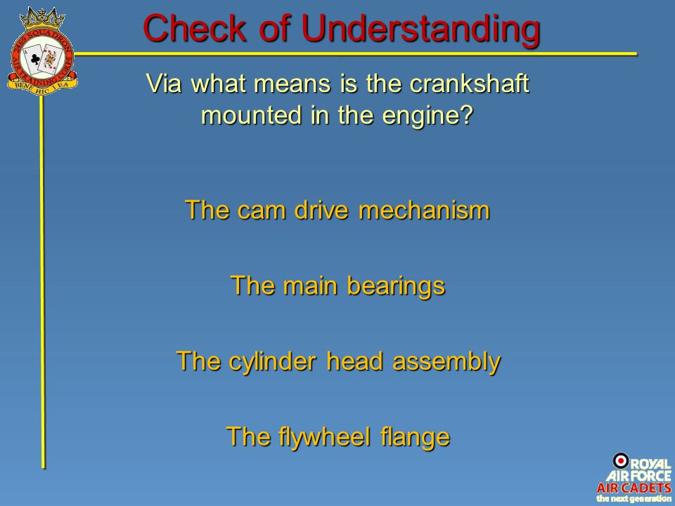 Check of Understanding
