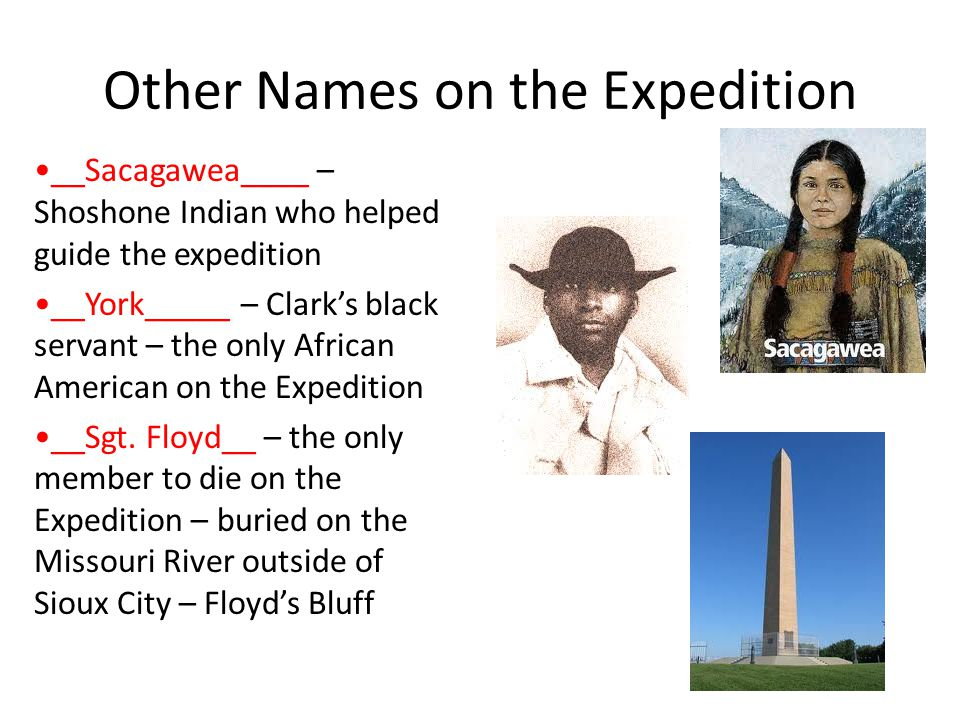 Other Names on the Expedition