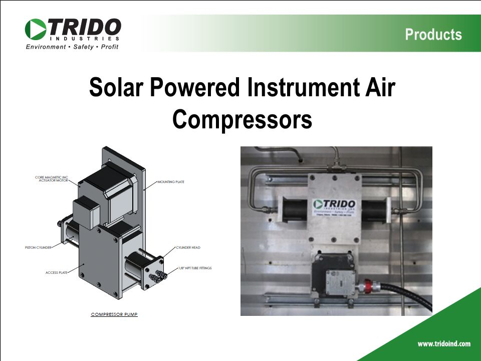 Solar Powered Instrument Air Compressors