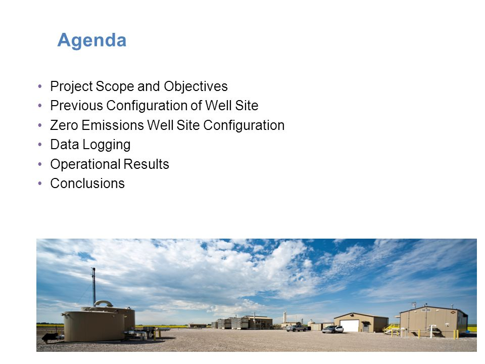Agenda Project Scope and Objectives