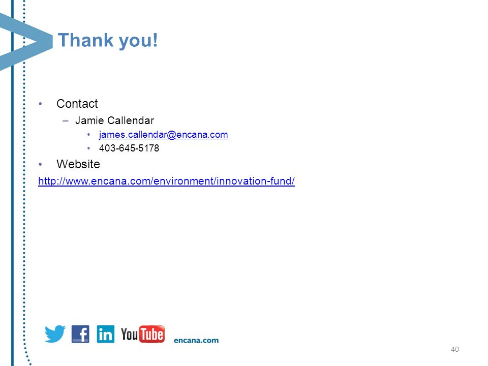 Thank you! Contact Website Jamie Callendar