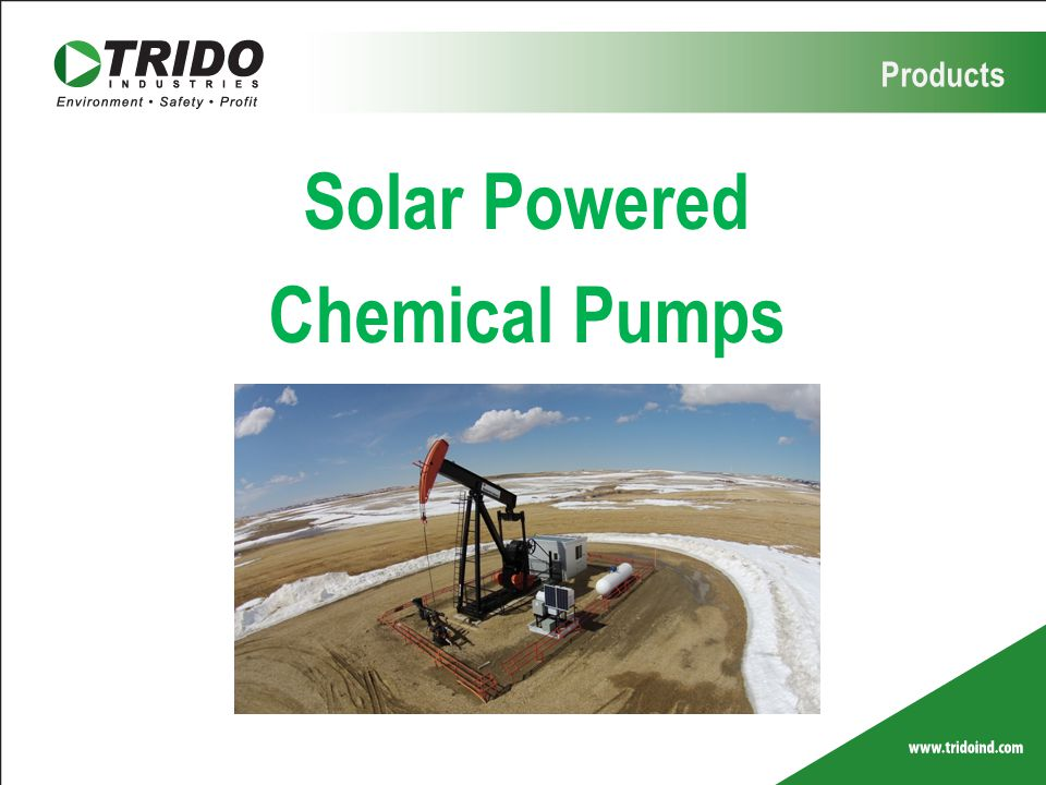 Solar Powered Chemical Pumps