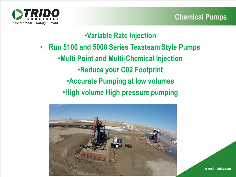 Variable Rate Injection Run 5100 and 5000 Series Texsteam Style Pumps