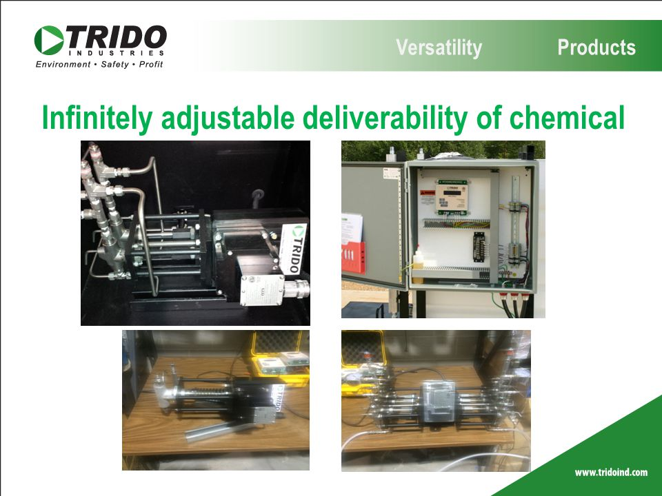 Infinitely adjustable deliverability of chemical