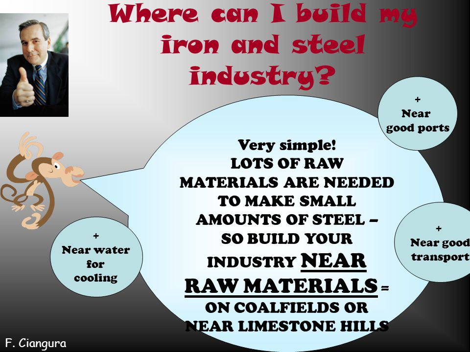 Where can I build my iron and steel industry
