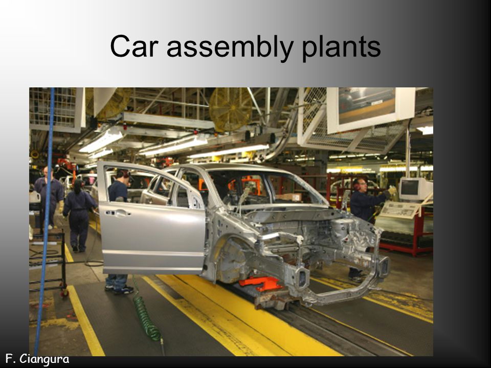 Car assembly plants F. Ciangura