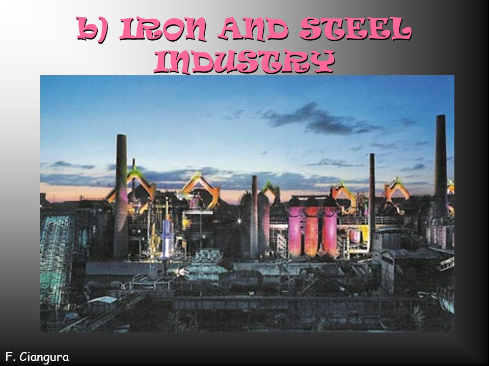 b) IRON AND STEEL INDUSTRY