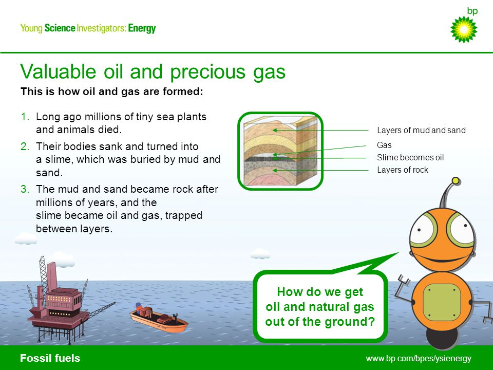 oil and natural gas out of the ground