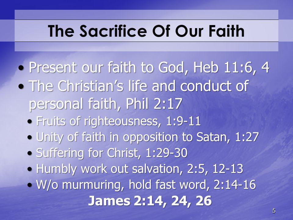The Sacrifice Of Our Faith