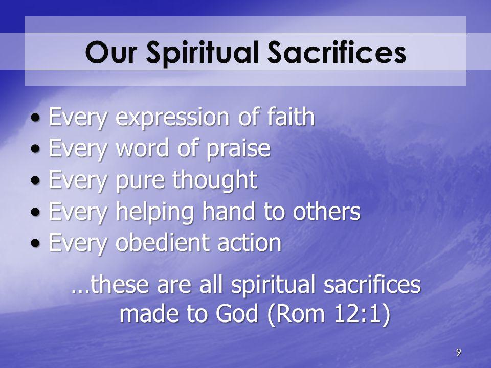 Our Spiritual Sacrifices