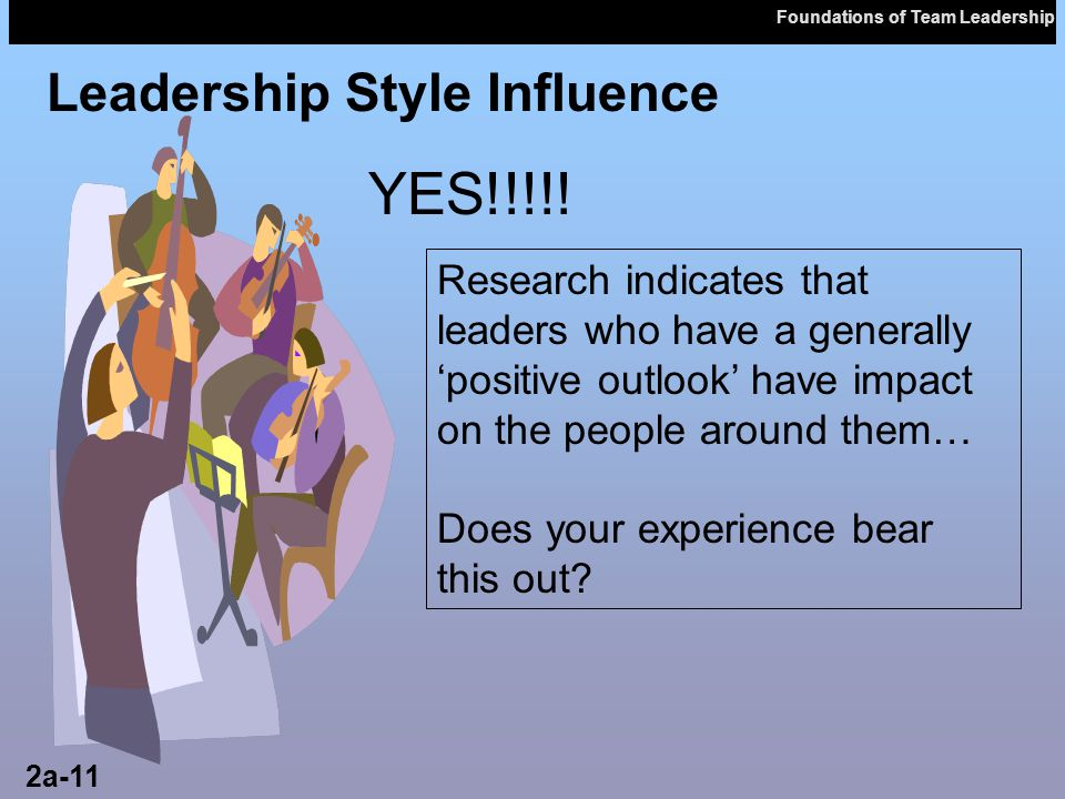 YES!!!!! Leadership Style Influence