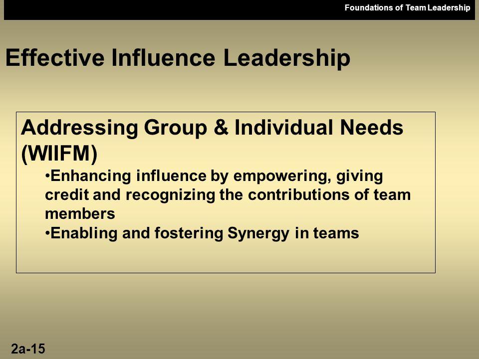 Effective Influence Leadership