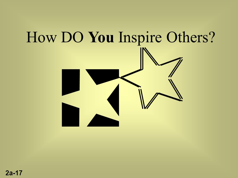 How DO You Inspire Others