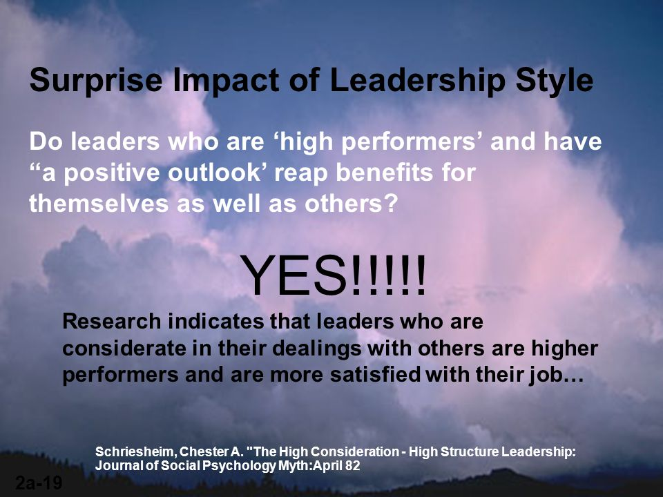 YES!!!!! Surprise Impact of Leadership Style