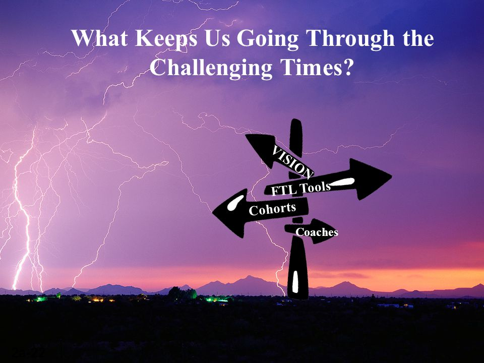 What Keeps Us Going Through the Challenging Times