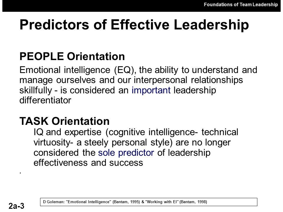 Predictors of Effective Leadership