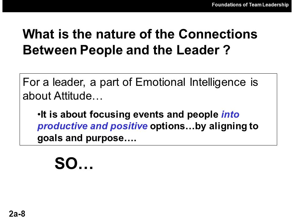 What is the nature of the Connections Between People and the Leader