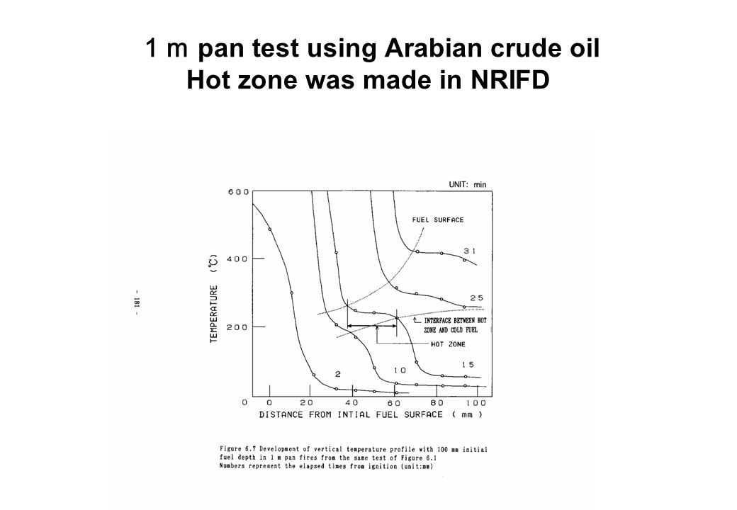 1m pan test using Arabian crude oil Hot zone was made in NRIFD