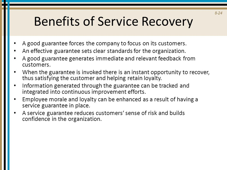 Benefits of Service Recovery