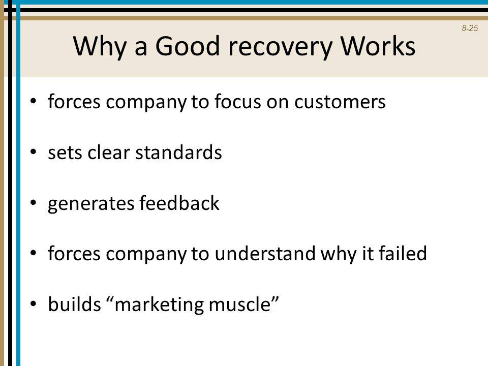 Why a Good recovery Works