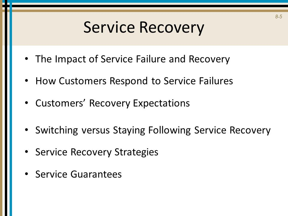 Service Recovery The Impact of Service Failure and Recovery