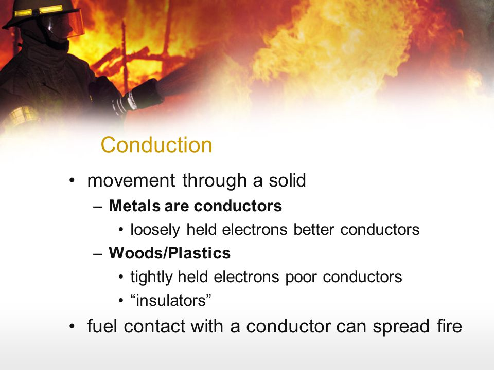 Conduction movement through a solid