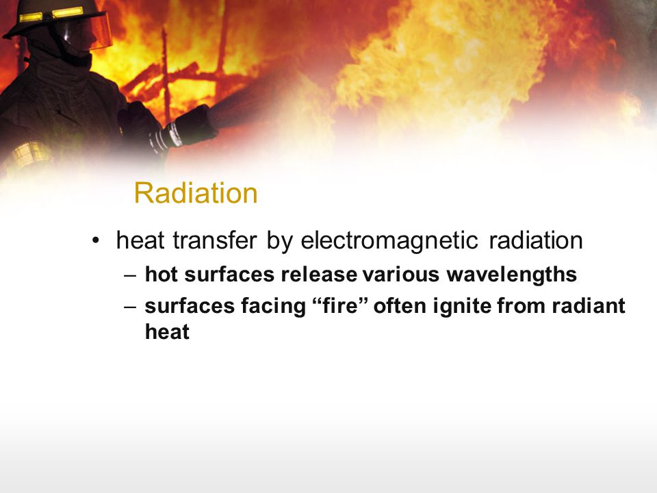 Radiation heat transfer by electromagnetic radiation