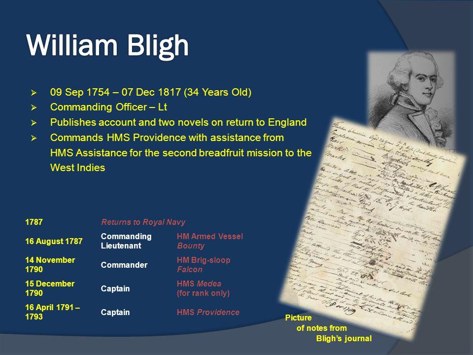 William Bligh 09 Sep 1754 – 07 Dec 1817 (34 Years Old)