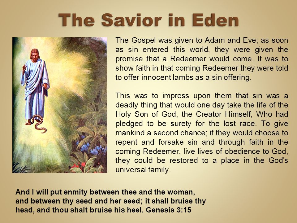 The Savior in Eden