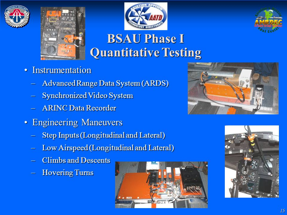 BSAU Phase I Quantitative Testing
