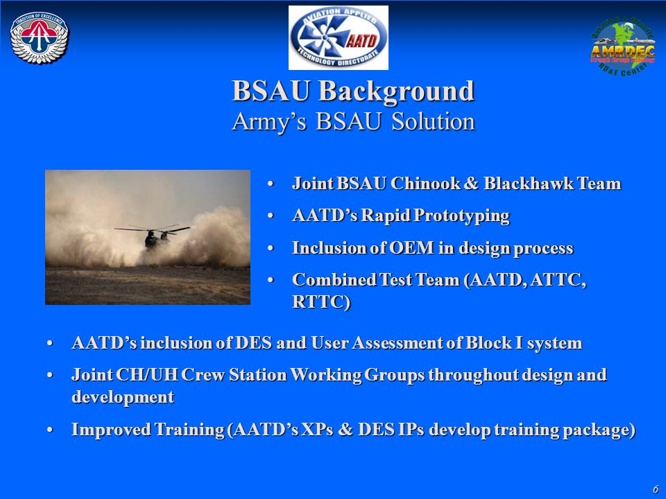 BSAU Background Army's BSAU Solution