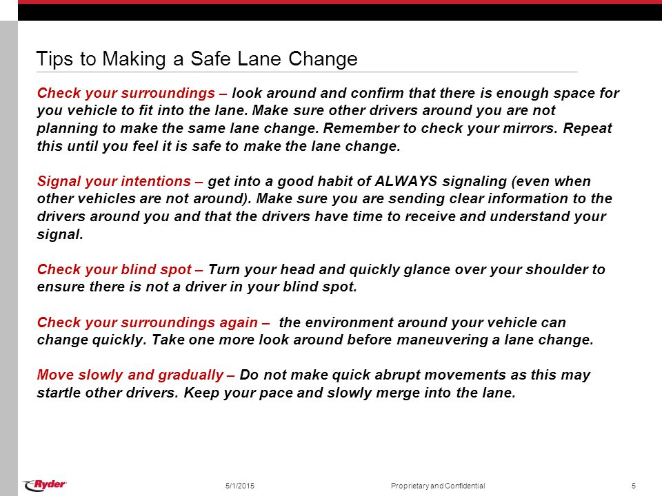 Tips to Making a Safe Lane Change