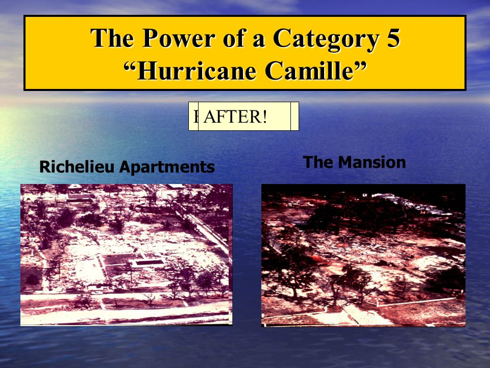 The Power of a Category 5 Hurricane Camille