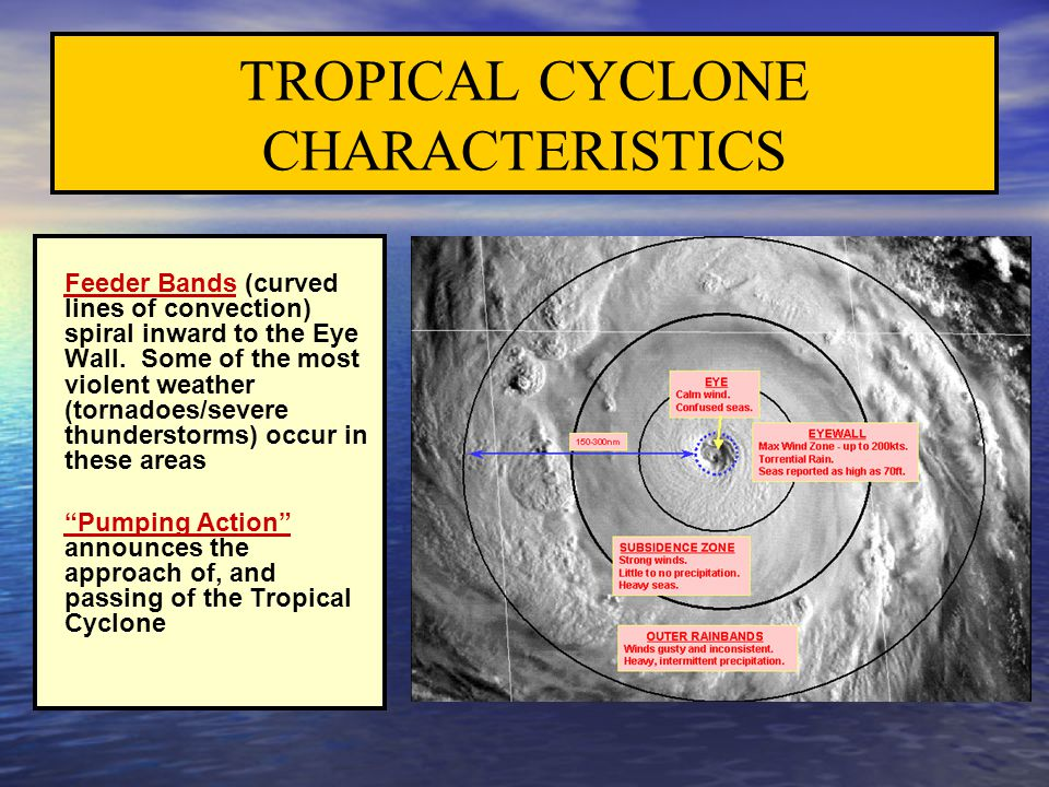 TROPICAL CYCLONE CHARACTERISTICS