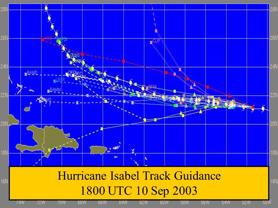 Hurricane Isabel Track Guidance