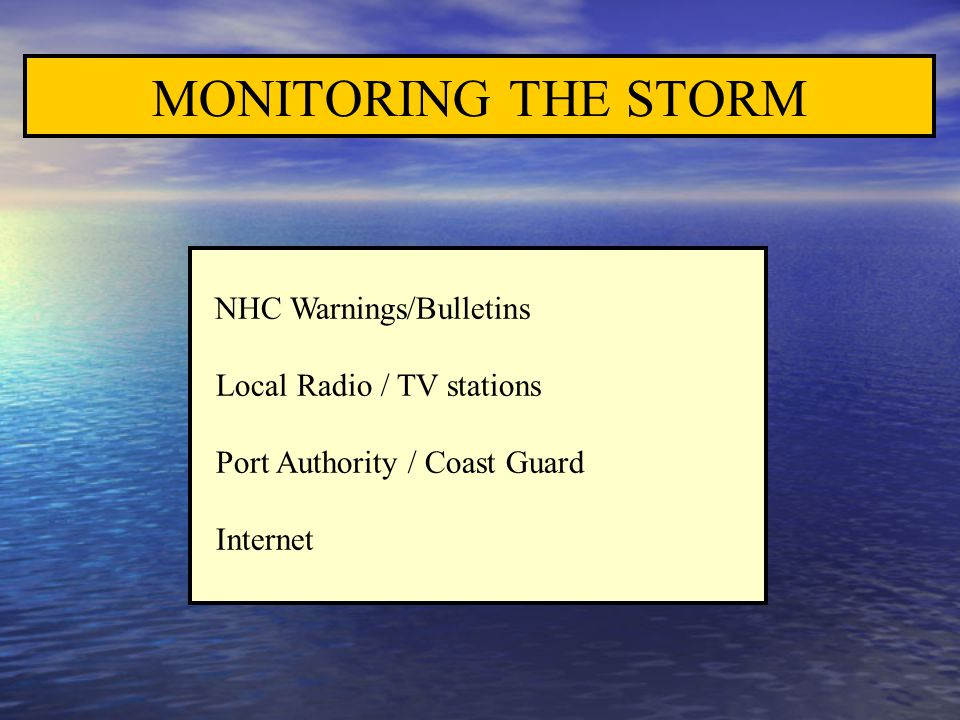 MONITORING THE STORM Local Radio / TV stations