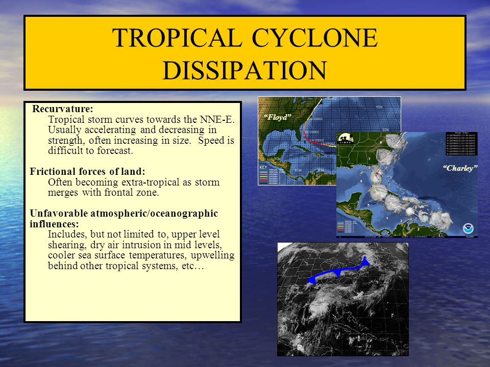 TROPICAL CYCLONE DISSIPATION