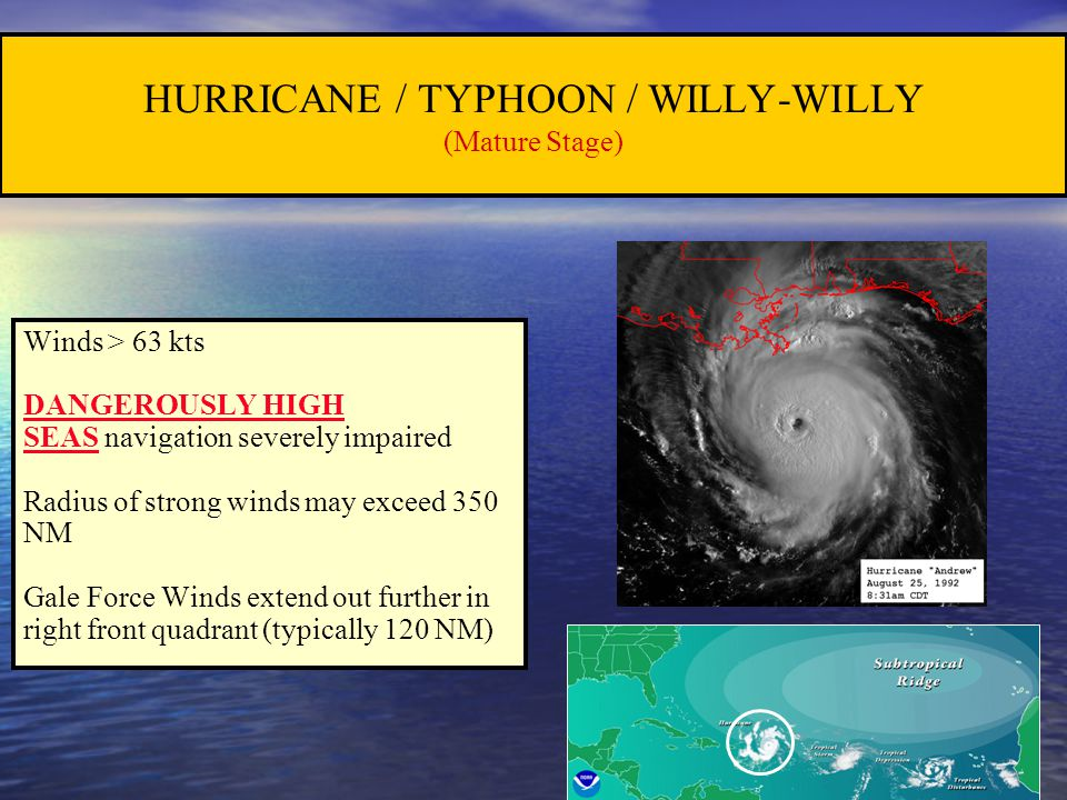 HURRICANE / TYPHOON / WILLY-WILLY (Mature Stage)