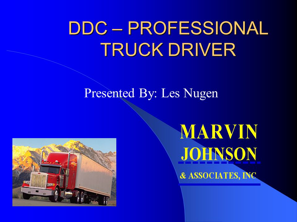 DDC – PROFESSIONAL TRUCK DRIVER