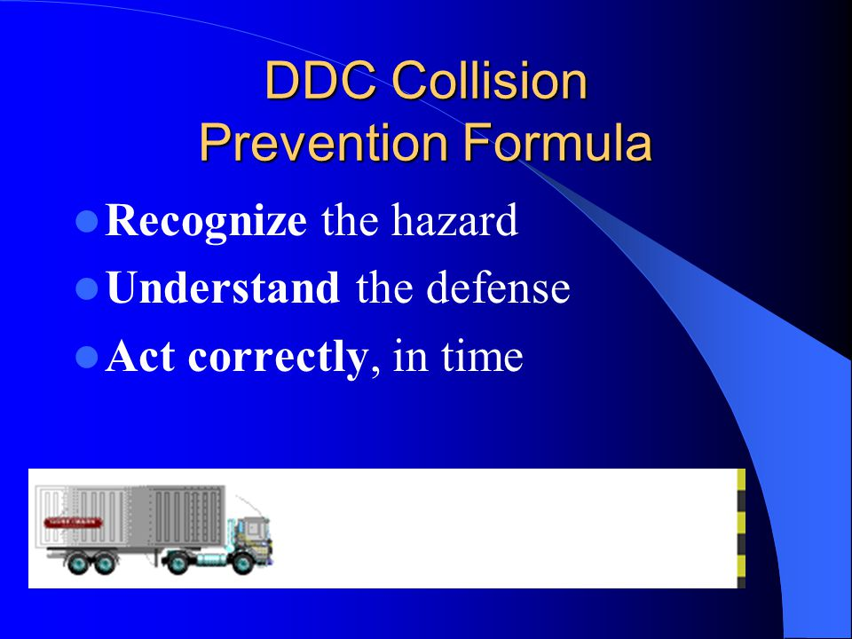 DDC Collision Prevention Formula