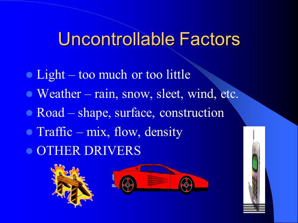 Uncontrollable Factors