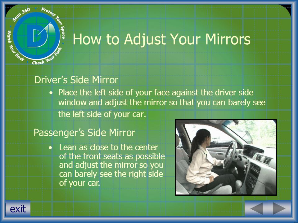 How to Adjust Your Mirrors