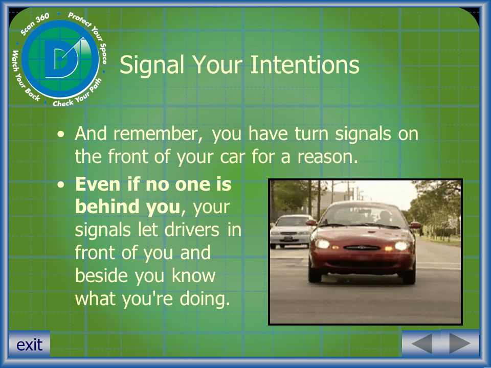 Signal Your Intentions