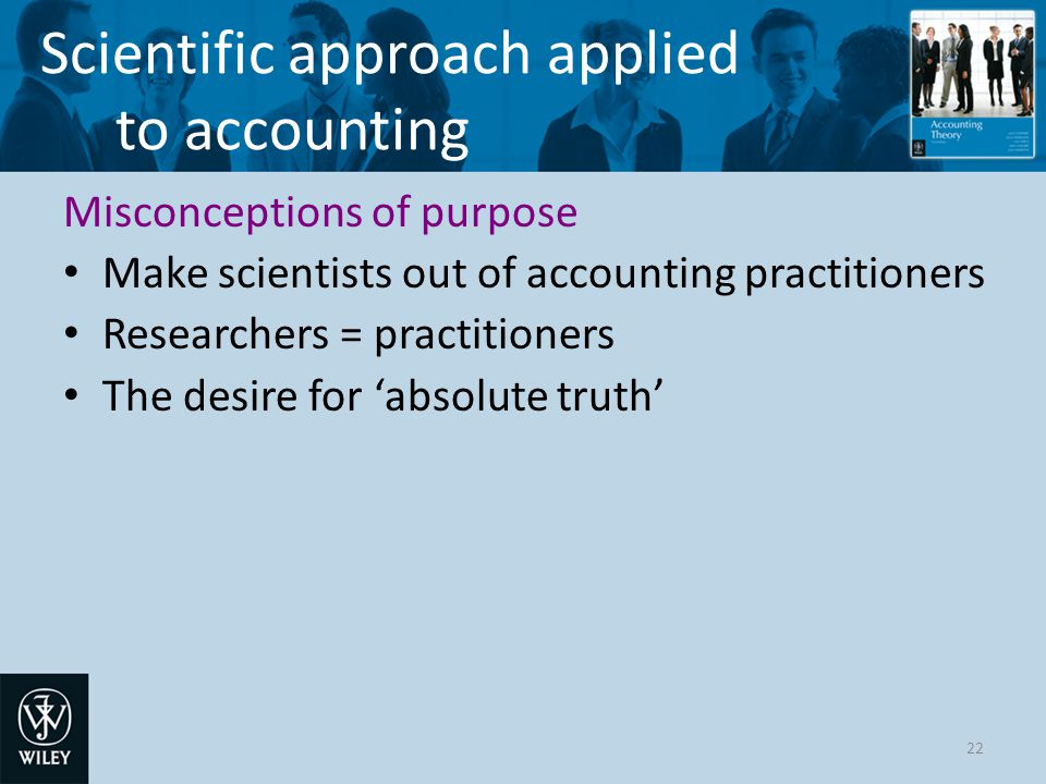Scientific approach applied to accounting