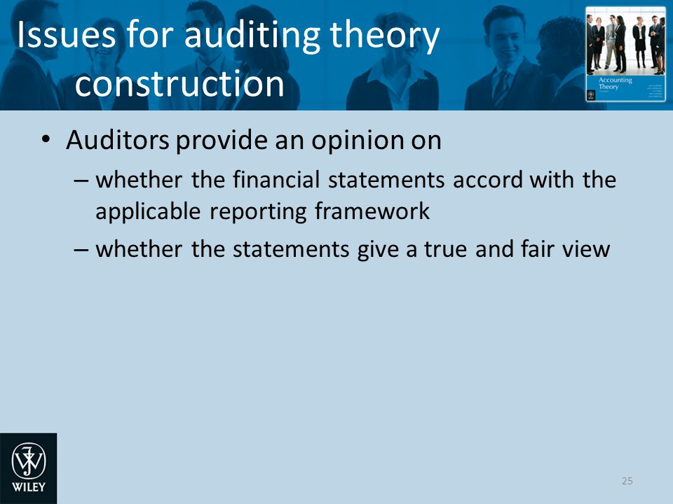 Issues for auditing theory construction