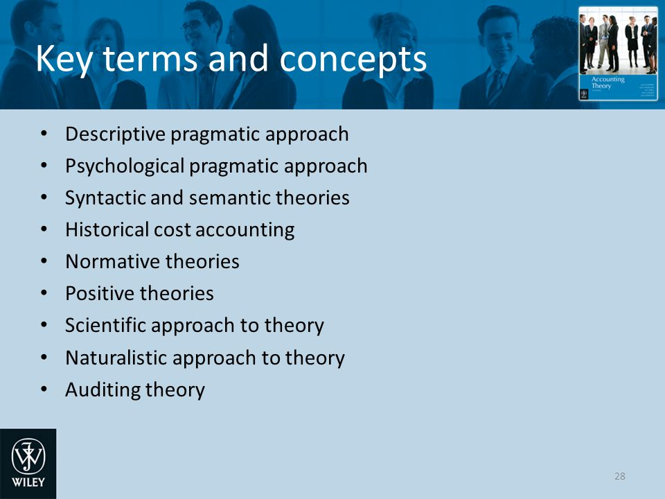 Key terms and concepts Descriptive pragmatic approach